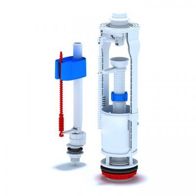 Комплект арматура с поплавък за долно пълнене,хром бутон 1/2 , Части за санитарен порцелан 2a961f01