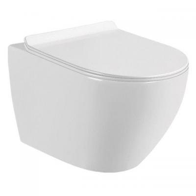 """Конзолна тоалетна чиния, rimless, ултра тънък дуропластов капак със система """"soft  close"""" и """"take - off"""", Окачени тоалетни чинии 41081af1"""
