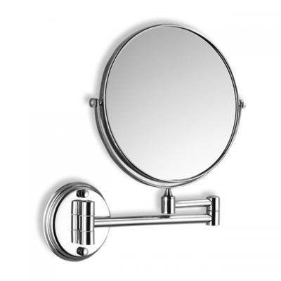 Козметично огледало с диаметър 20.32 cm, месинг, Хромирани аксесоари Козметично огледало