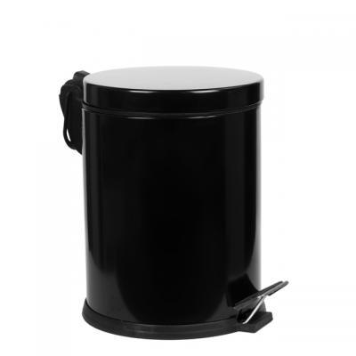 350105B Кошче с педал 5 л, черно покритие, Хромирани аксесоари Кошче с педал 5 л, черно покритие