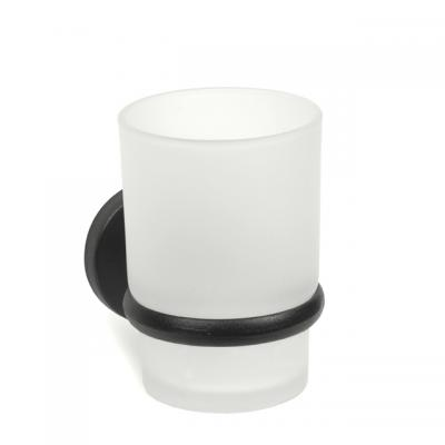 123015B Поставка с чаша, черно покритие, Хромирани аксесоари Поставка с чаша, черно покритие