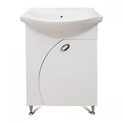 PVC Класик 55см, база с умивалник, Мебели за баня PVC Класик 55см, база с умивалник